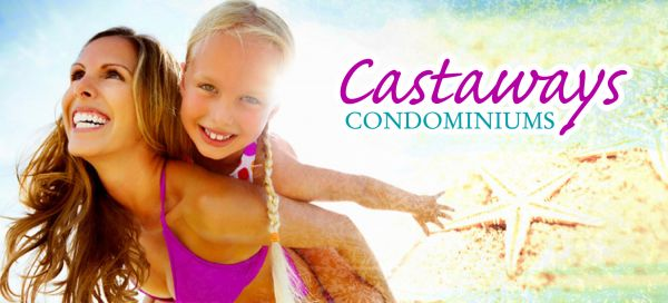 mother and daughter at Castaways Condominiums Family Beach Vacation rentals